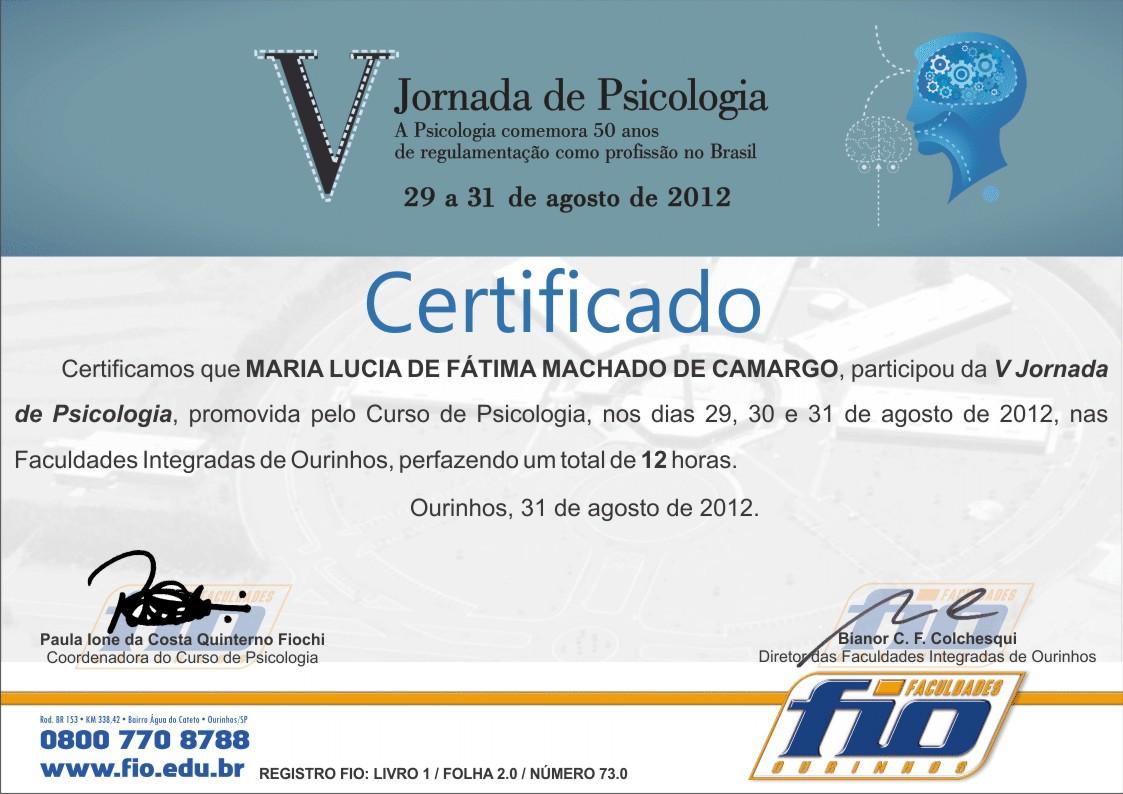 Karina Germano Certificados da V Jorn...