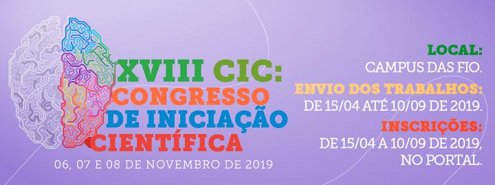 XVIII Congresso de Iniciação Científica - 2019